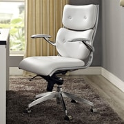Modway Push Mid-Back Office Chair with Arms; White