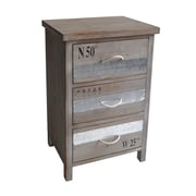 Cheungs Wooden Chest with 3 Drawers and Rope Handles