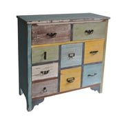 Cheungs 9 Drawer Wooden Chest