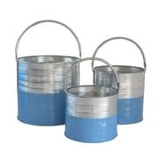 Cheungs 3 Piece Bucket w/ Handles Set; Blue