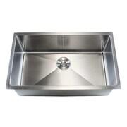 eModern Decor Ariel 32'' x 19'' Single Bowl Undermount Kitchen Sink