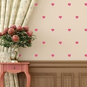 Walls Need Love Hearts Mini-Pack Wall Decal; Pink