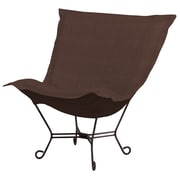Howard Elliott Puff Scroll Lounge Chair; Sterling Chocolate