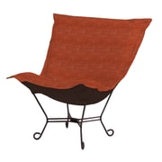 Howard Elliott Puff Scroll Lounge chair; Coco Coral