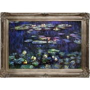 Tori Home Water Lilies Green Reflections by Claude Monet Framed Painting Print