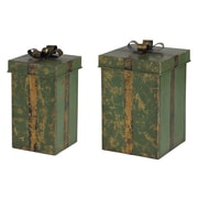 Transpac Imports, Inc 2 Piece Gift Boxes Set
