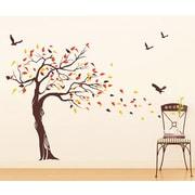 Pop Decors Beautiful Tree and Birds Vinyl Art Wall Decal