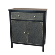 Gallerie Decor Ritz Cabinet; Espresso / Bronze