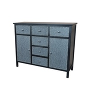 Gallerie Decor Ritz Cabinet; Black / Silver