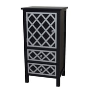 Gallerie Decor Trellis Drawer and 1 Door Cabinet Chest; Black