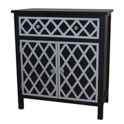 Gallerie Decor Trellis Cabinet 1 Drawer and 2 Door Chest; Black