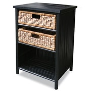 Heather Ann 2 Drawer Cabinet; Black