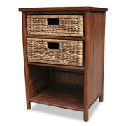 Heather Ann 2 Drawer Cabinet; Brown