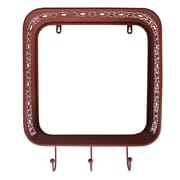 Cheungs Metal Shadow Box with 3 Hooks Picture Frame; Pink