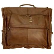 AmeriLeather Leather Garment Bag; Chestnut Brown