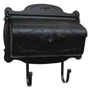 Special Lite Products Floral Horizontal Wall Mounted Mailbox; Frosted Umber