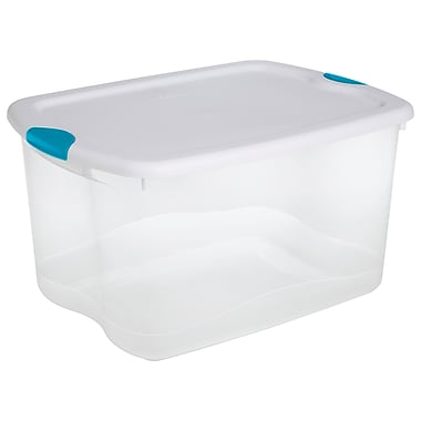 Sterilite 14097 66 Quart/62 Liter Latch Box, 24-1/2