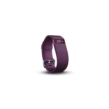 Fitbit Charge HR Heart Rate & Activity Wristband, Plum, Large