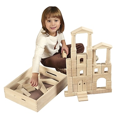 ECR4Kids® 48-Piece Architectural Blocks with Carry Case