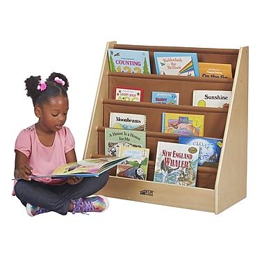 ECR4Kids® – Présentoir de livres à un seul côté, bouleau et canevas