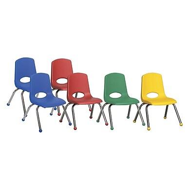 ECR4Kids® – Ensemble de chaises empilables, 6 pièces, 12 po