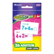 Bazic Addition Flash Cards; Case of 72
