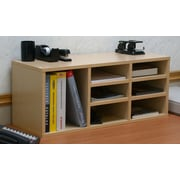 Venture Horizon VHZ Office Nine Compartment Desk Organizer; Oak