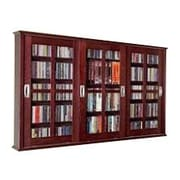 Leslie Dame Triple Door Wall Mounted Multimedia Storage Cabinet; Dark Cherry