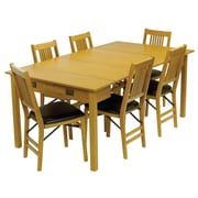 Stakmore Mission Style Expanding Dining Table; Oak