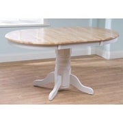 TMS Farmhouse Dining Table; White / Natural