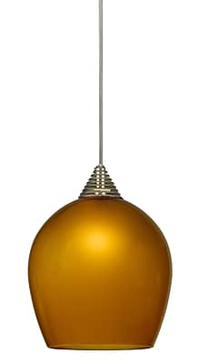Cal Lighting LED 1 Light Mini Pendant; Dark Bronze WYF078276243134