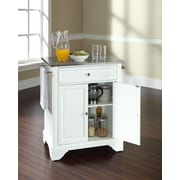 Crosley LaFayette Kitchen Cart w/ Stainless Steel Top; White