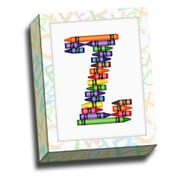 Picture it on Canvas Alphabet Crayon Kids Graphic Art on Canvas; Z
