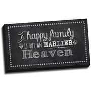 Picture it on Canvas Chalk Quotes Happy Family Chalkboard Quote Textual Art on Wrapped Canvas