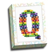 Picture it on Canvas Alphabet Crayon Kids Graphic Art on Canvas; Q