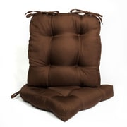 Sweet Home Collection Outdoor Dining Chair Cushion (Set of 2); Chocolate