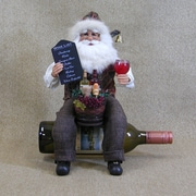 Karen Didion Christmas Santa Wine Bottle Holder