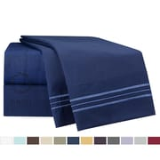 Nestl Bedding 1800 Thread Count Microfiber Bed Sheet Set; Navy Blue
