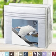 Nestl Bedding 1800 Thread Count Bed Sheet Set; White