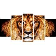 DesignArt Hear Him Roar - Lion 5 Piece Graphic  Art on Gallery Wrapped Canvas Set