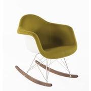 Stilnovo Mid-Century Rocking Chair; Olive