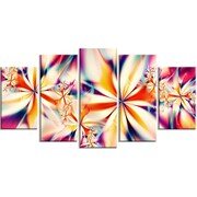 DesignArt Crystalize Floral 5 Piece Graphic Art on Gallery Wrapped Canvas Set in Pink