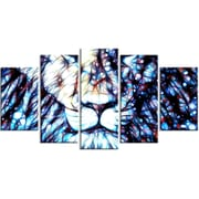 DesignArt Leader of the Pack - Lion 5 Piece Graphic Art on Gallery Wrapped Canvas Set