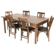 Stakmore Mission Style Expanding Dining Table; Fruitwood