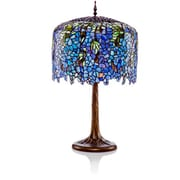River of Goods Tiffany Inspired Grand Wisteria Stained Glass 30.25'' H Table Lamp