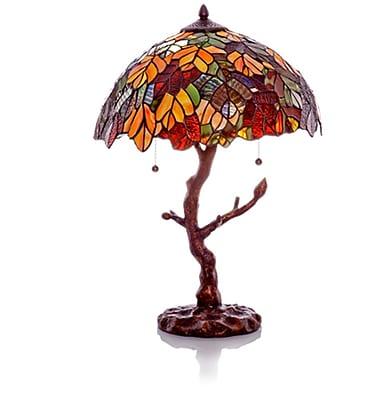 River of Goods Marvel Tiffany Style Stained Glass 24.5'' Table Lamp WYF078277059764
