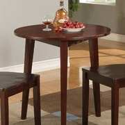 InRoom Designs Round Dining Table; Glossy Mahogany