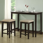 Monarch Specialties Inc. Counter Height Kitchen Table; Cappuccino