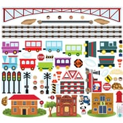 Mona Melisa Designs Trains Interactive Wall Decal Set
