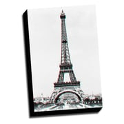 Picture it on Canvas Anaglyph Eiffel Tower 3D Photographic Print on Wrapped Canvas